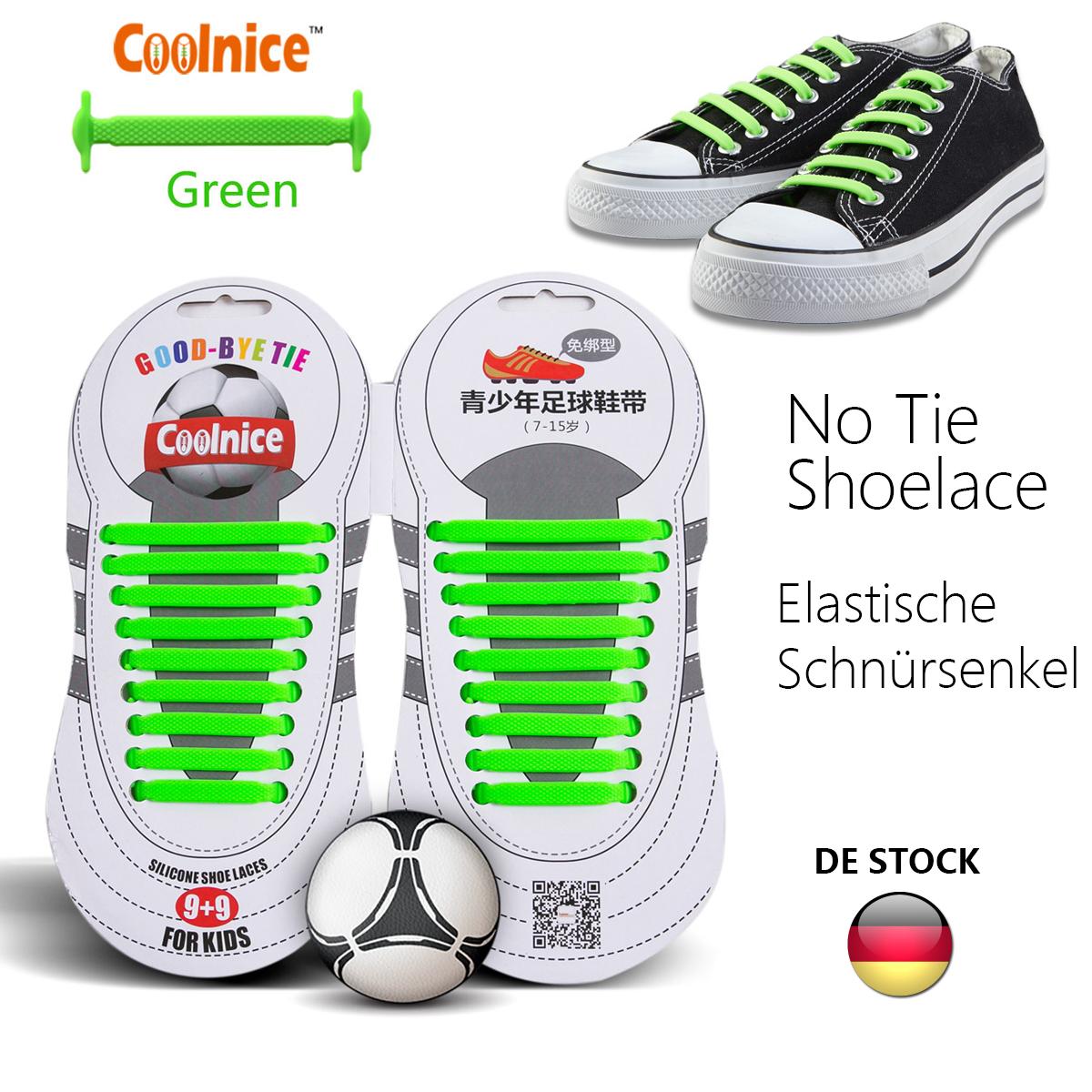 Kinder Slip-on Bunte Silikon Elastische Schnürsenkel Kein