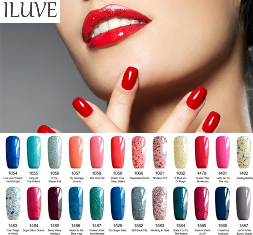iLuve Nail Art Tips 237 Colors Soak Off Gel Polish LED UV Lamp Glitter 15ml SE01