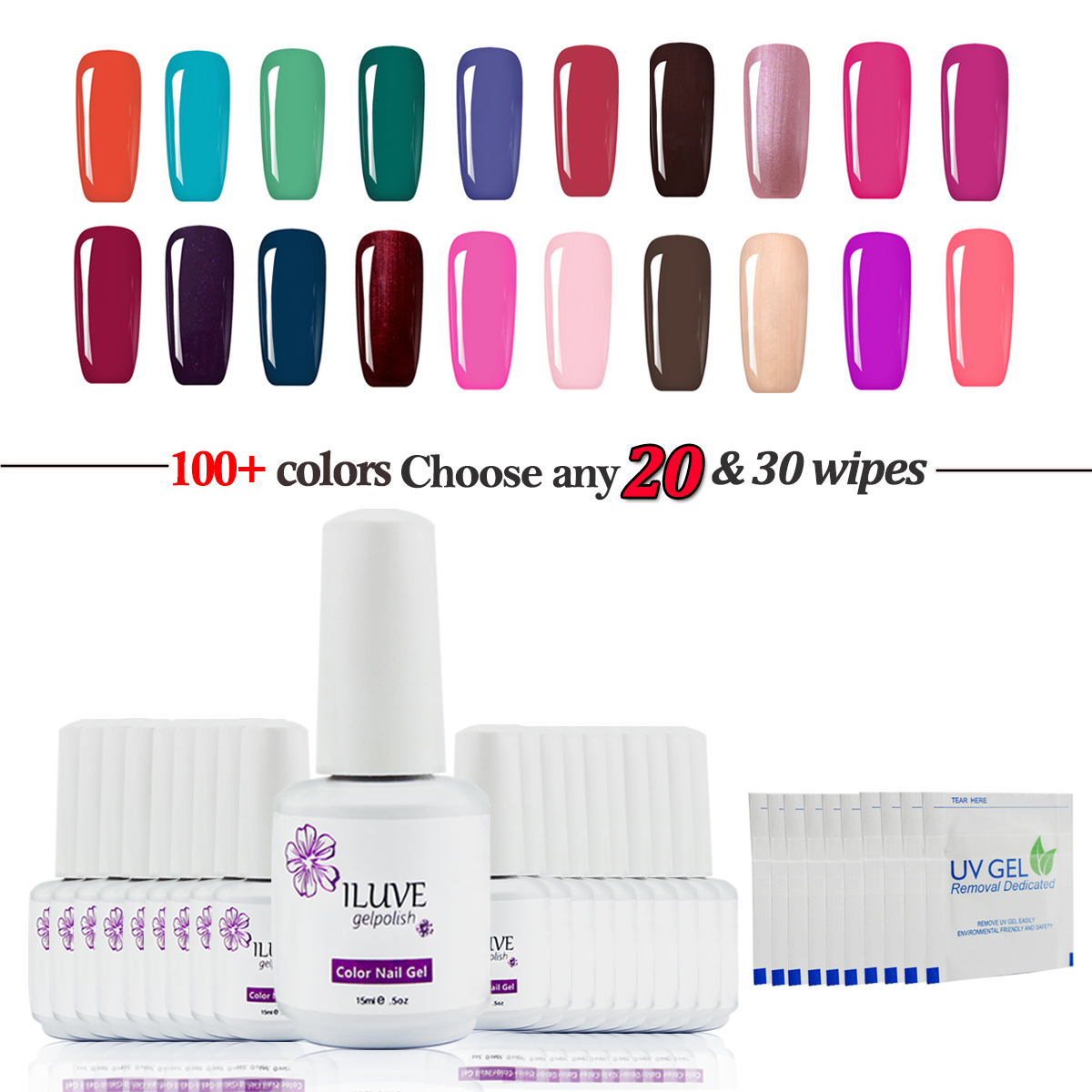 Nail Polish Tips: ILuve Nail Art Soak Off Gel Polish UV LED Light Glitter